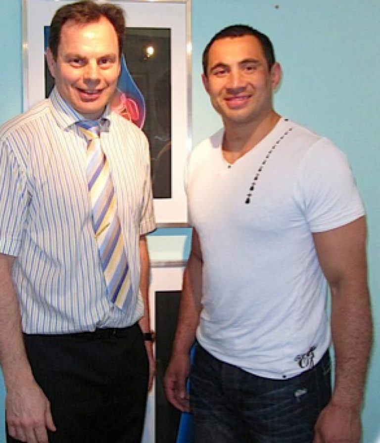 Dr. Cobb (Doctor of Chiropractic) with Riki Flutey – England & British Lions Rugby Player